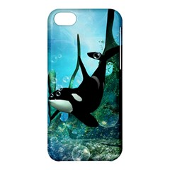 Orca Swimming In A Fantasy World Apple iPhone 5C Hardshell Case