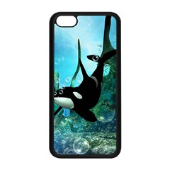 Orca Swimming In A Fantasy World Apple iPhone 5C Seamless Case (Black)