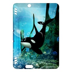 Orca Swimming In A Fantasy World Kindle Fire HDX Hardshell Case