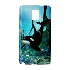 Orca Swimming In A Fantasy World Samsung Galaxy Note 4 Hardshell Case