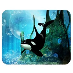 Orca Swimming In A Fantasy World Double Sided Flano Blanket (medium)