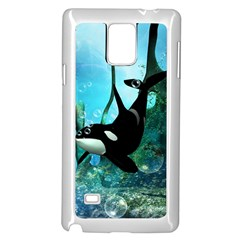 Orca Swimming In A Fantasy World Samsung Galaxy Note 4 Case (white)