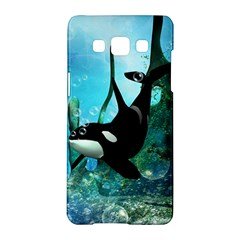 Orca Swimming In A Fantasy World Samsung Galaxy A5 Hardshell Case