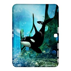 Orca Swimming In A Fantasy World Samsung Galaxy Tab 4 (10.1 ) Hardshell Case