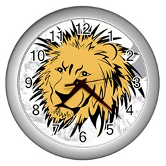Lion Wall Clocks (Silver)