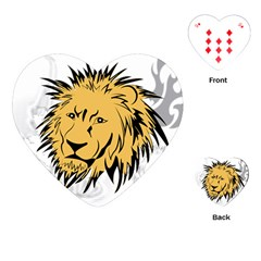 Lion Playing Cards (heart)
