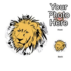 Lion Playing Cards 54 (Round)