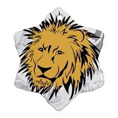 Lion Ornament (Snowflake)