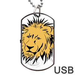 Lion Dog Tag Usb Flash (one Side)
