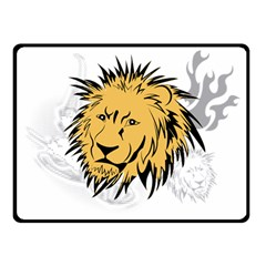 Lion Double Sided Fleece Blanket (small)