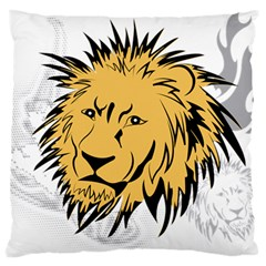 Lion Large Flano Cushion Cases (two Sides)