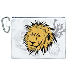 Lion Canvas Cosmetic Bag (XL)