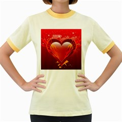 Heart Women s Fitted Ringer T Shirts
