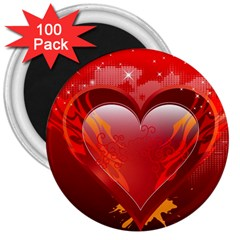 heart 3  Magnets (100 pack)