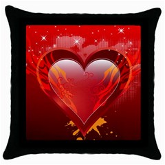 heart Throw Pillow Cases (Black)