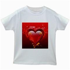 heart Kids White T-Shirts