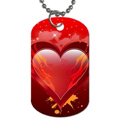 Heart Dog Tag (one Side)