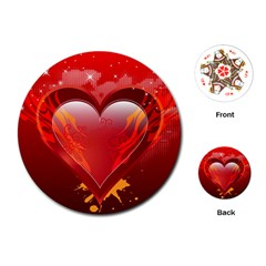 heart Playing Cards (Round)