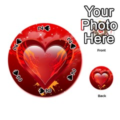 Heart Playing Cards 54 (round)