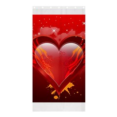 heart Shower Curtain 36  x 72  (Stall)