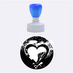 heart Rubber Round Stamps (Medium)