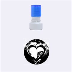 Heart Rubber Round Stamps (small)