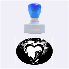 Heart Rubber Oval Stamps