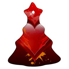 heart Christmas Tree Ornament (2 Sides)