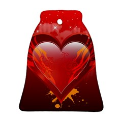 heart Bell Ornament (2 Sides)