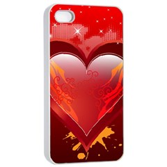 Heart Apple Iphone 4/4s Seamless Case (white)