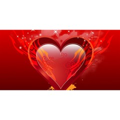 heart YOU ARE INVITED 3D Greeting Card (8x4)