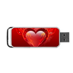 heart Portable USB Flash (One Side)