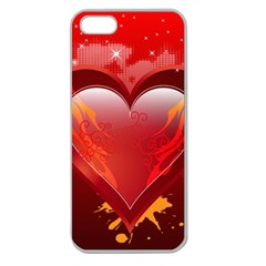 heart Apple Seamless iPhone 5 Case (Clear)