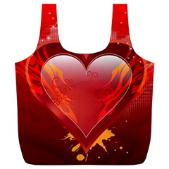 heart Full Print Recycle Bags (L)
