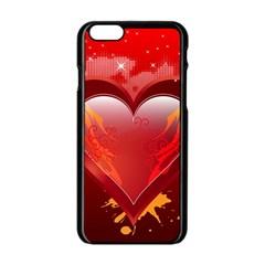 heart Apple iPhone 6 Black Enamel Case