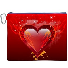 heart Canvas Cosmetic Bag (XXXL)