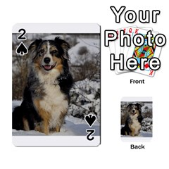 Australian Shepherd In Snow 2 Playing Cards 54 Designs