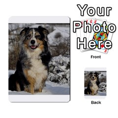 Australian Shepherd In Snow 2 Multi-purpose Cards (Rectangle)