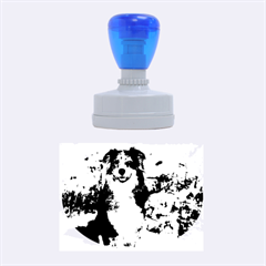Australian Shepherd In Snow 2 Rubber Oval Stamps