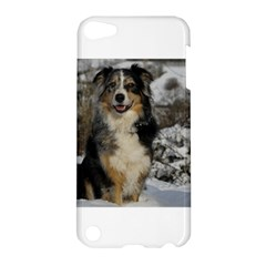 Australian Shepherd In Snow 2 Apple iPod Touch 5 Hardshell Case