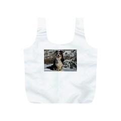 Australian Shepherd In Snow 2 Full Print Recycle Bags (S)