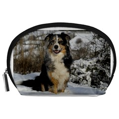 Australian Shepherd In Snow 2 Accessory Pouches (Large)
