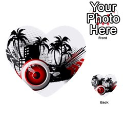 Music, Speaker Multi Purpose Cards (heart)