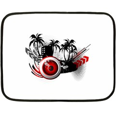 music, speaker Fleece Blanket (Mini)