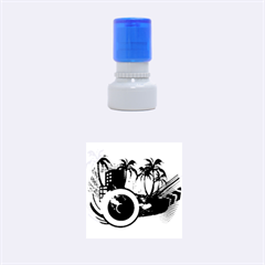 Music, Speaker Rubber Round Stamps (small)