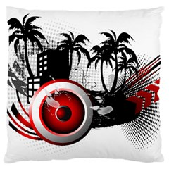 music, speaker Large Cushion Cases (Two Sides)