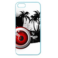 music, speaker Apple Seamless iPhone 5 Case (Color)