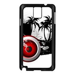 Music, Speaker Samsung Galaxy Note 3 N9005 Case (black)