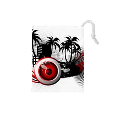 music, speaker Drawstring Pouches (Small)