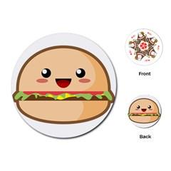 Kawaii Burger Playing Cards (Round)